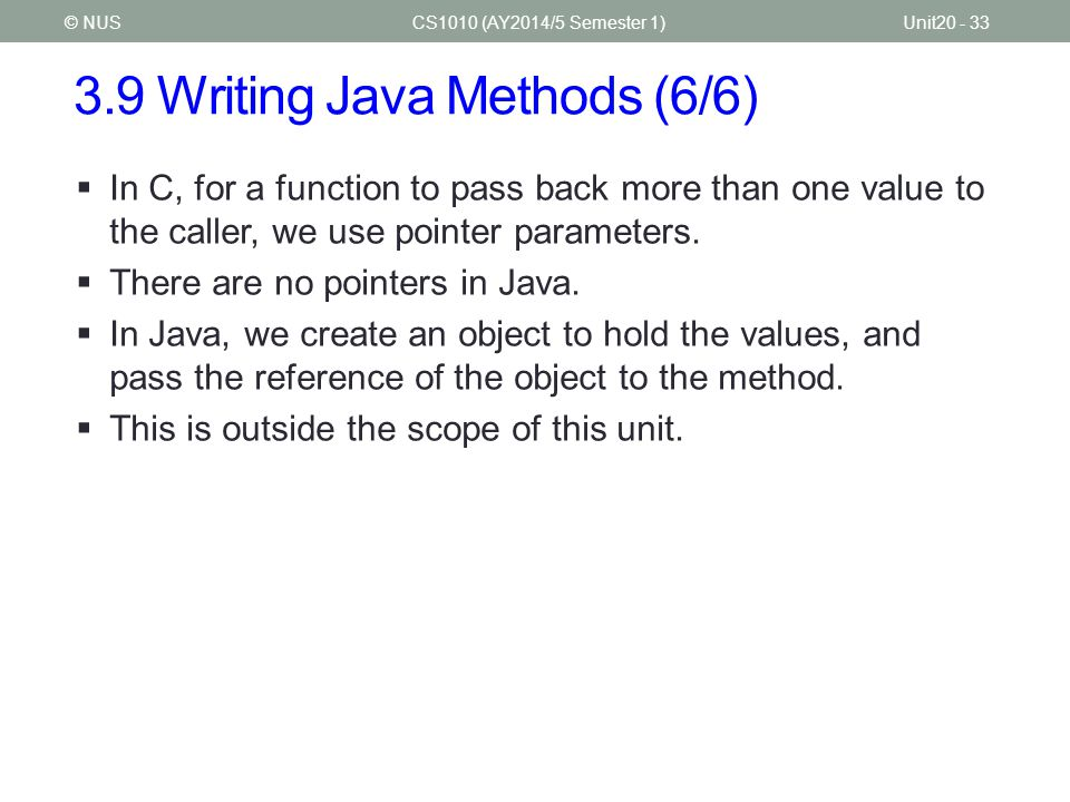 3.9 Writing Java Methods (6/6)