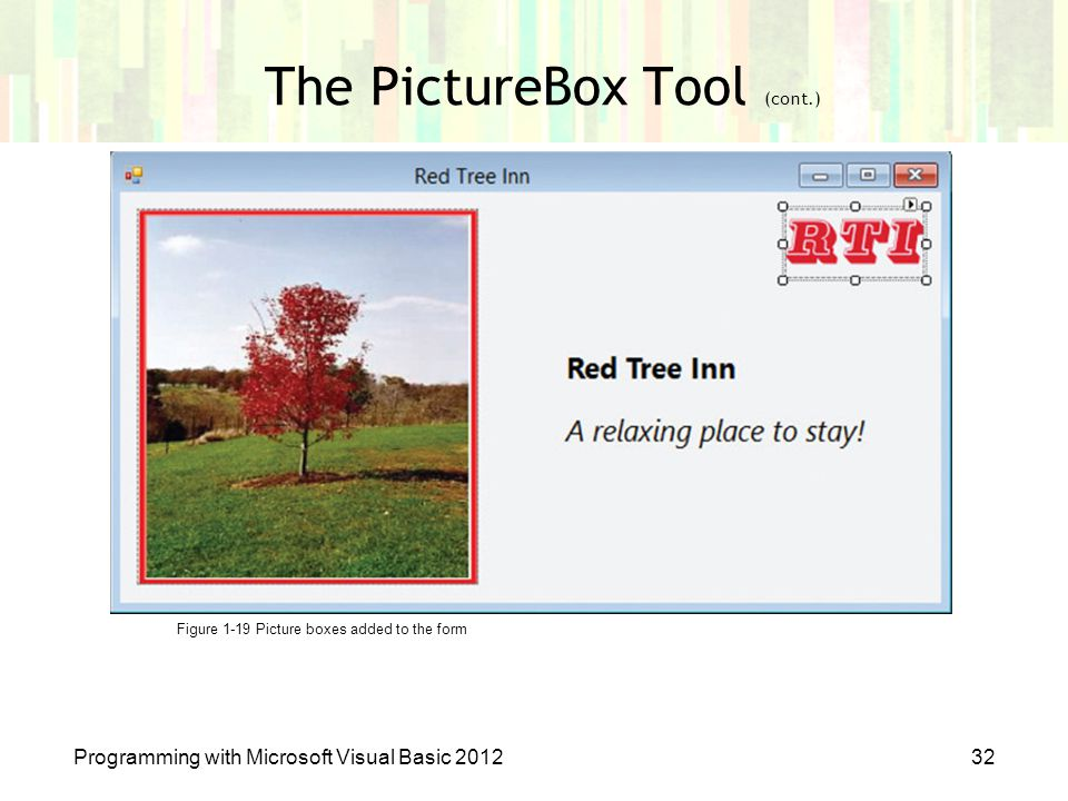 The PictureBox Tool (cont.)