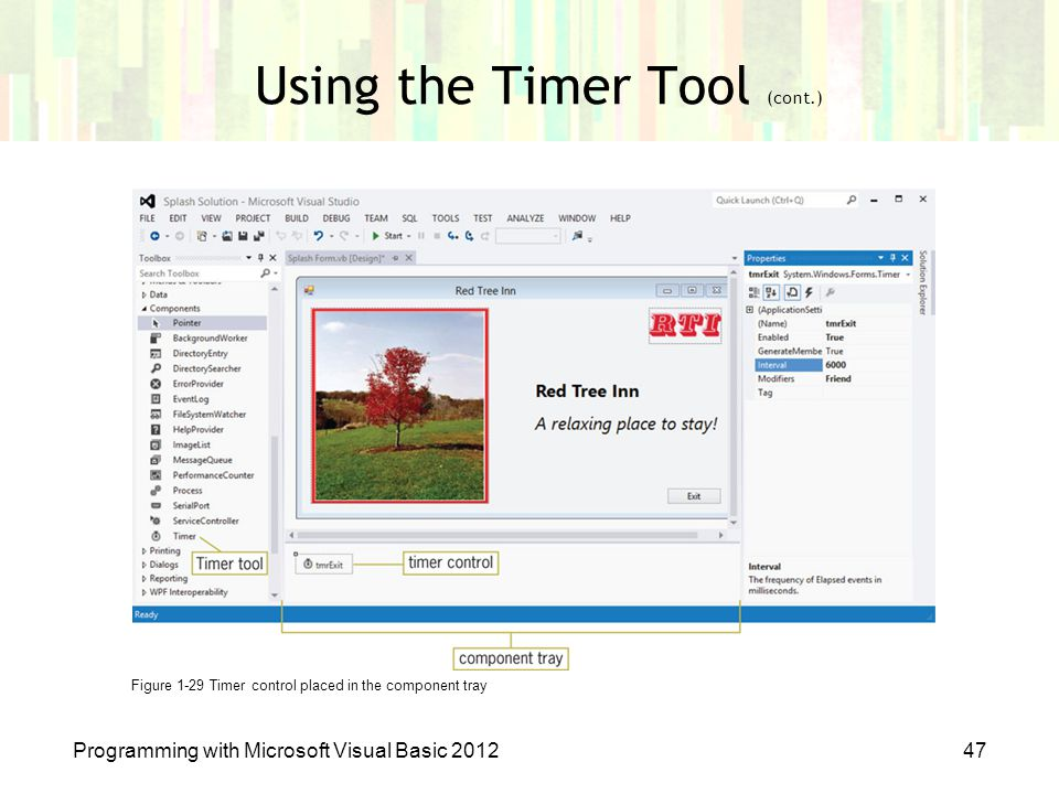 Using the Timer Tool (cont.)