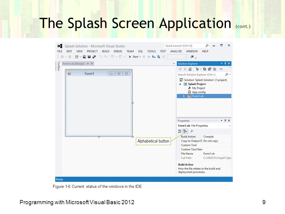 The Splash Screen Application (cont.)
