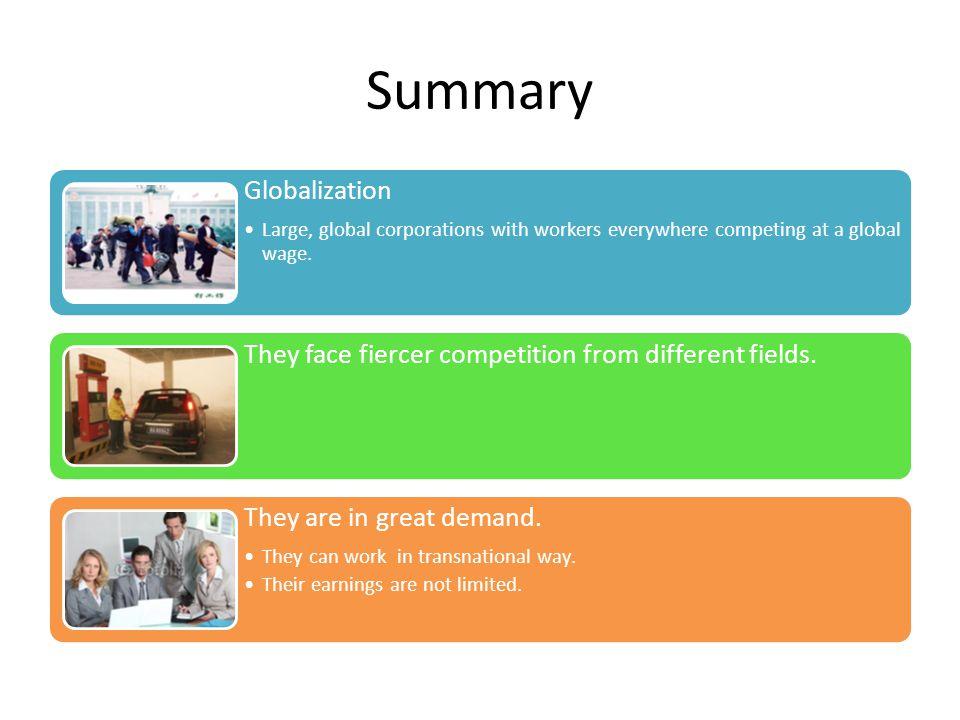 Summary Globalization