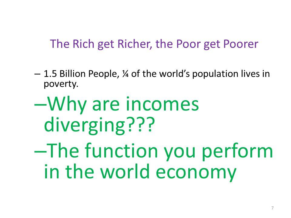 The Rich get Richer, the Poor get Poorer