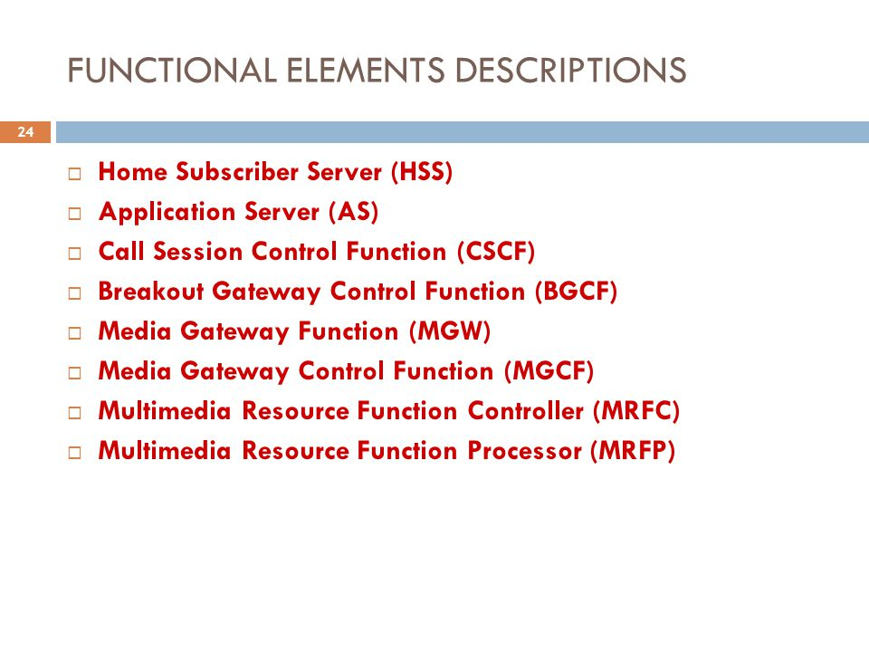 FUNCTIONAL ELEMENTS DESCRIPTIONS