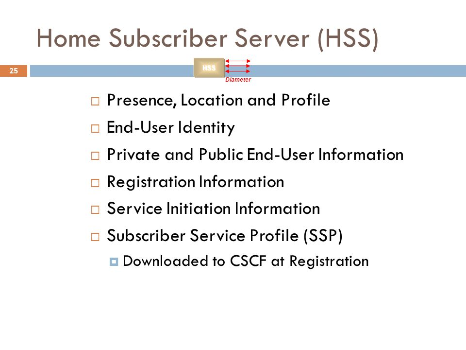 Home Subscriber Server (HSS)