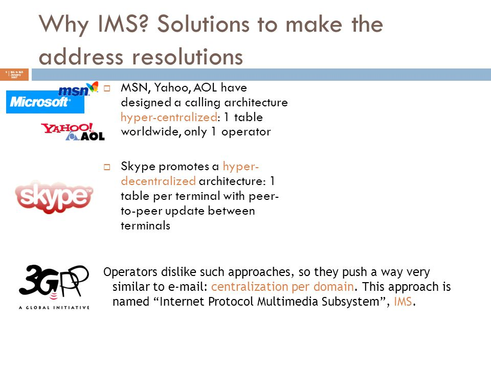 Why IMS Solutions to make the address resolutions