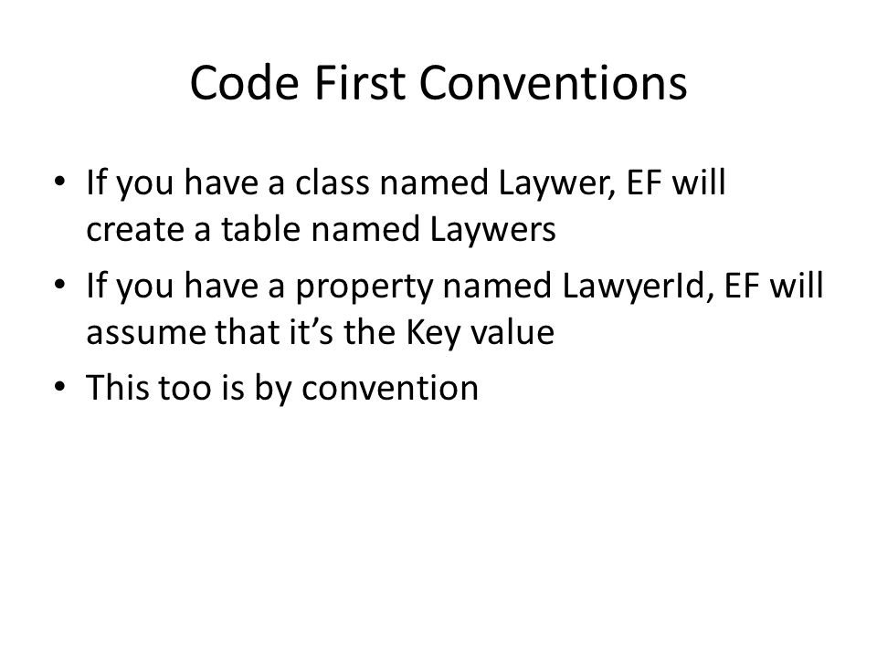 Code First Conventions