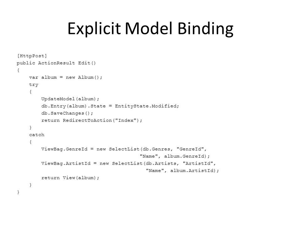Explicit Model Binding