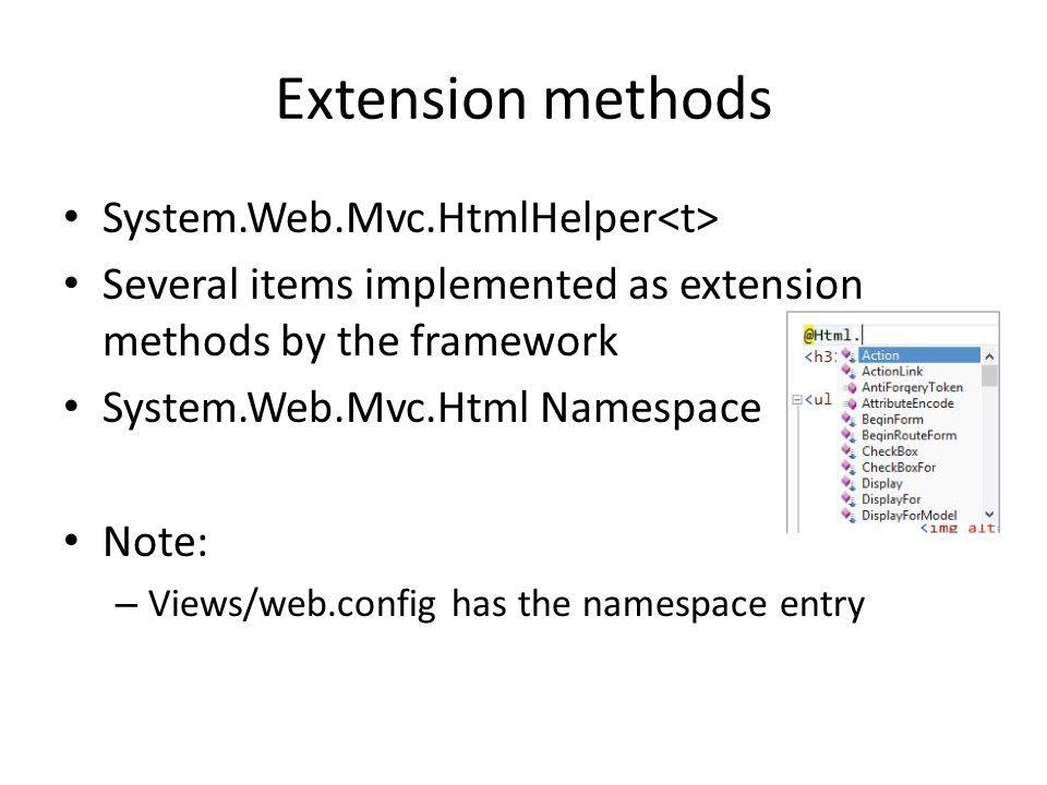 Extension methods System.Web.Mvc.HtmlHelper<t>
