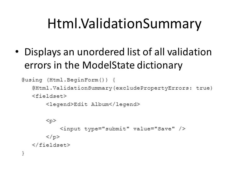 Html.ValidationSummary