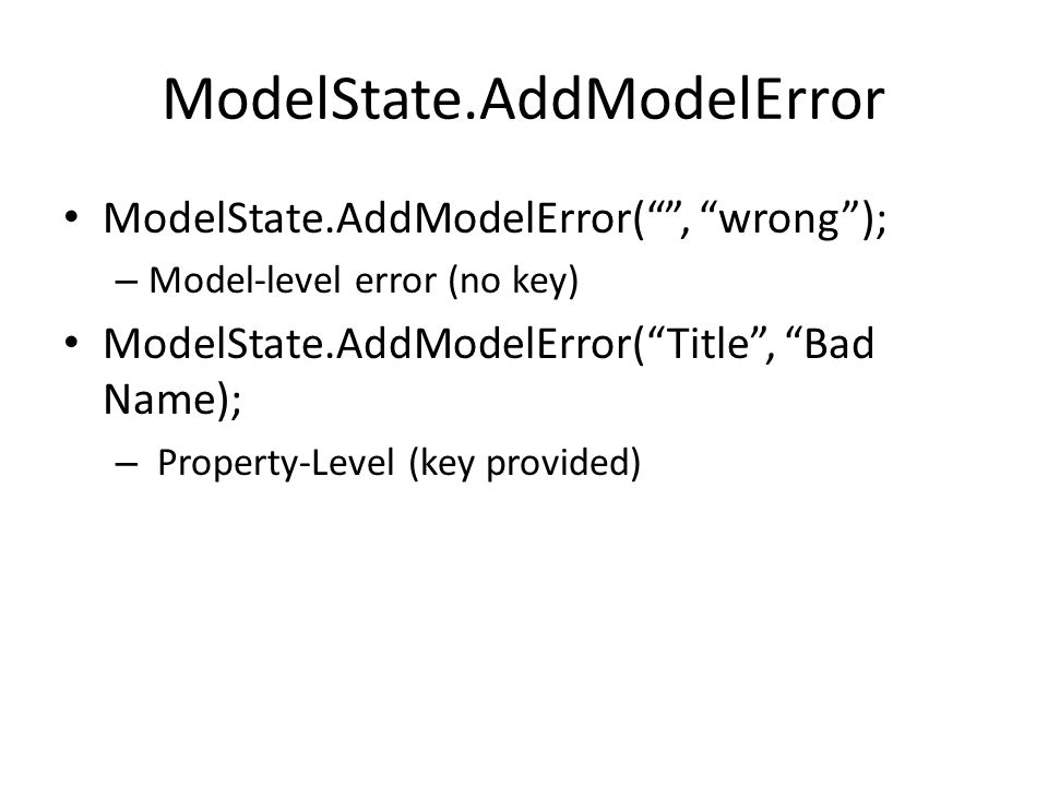 ModelState.AddModelError