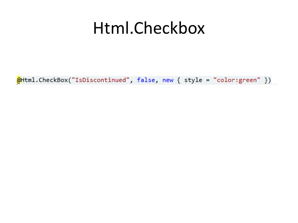 Html.Checkbox