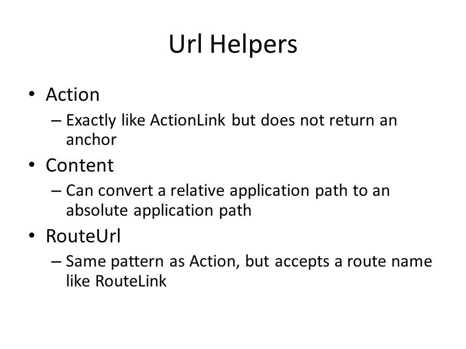 Url Helpers Action Content RouteUrl