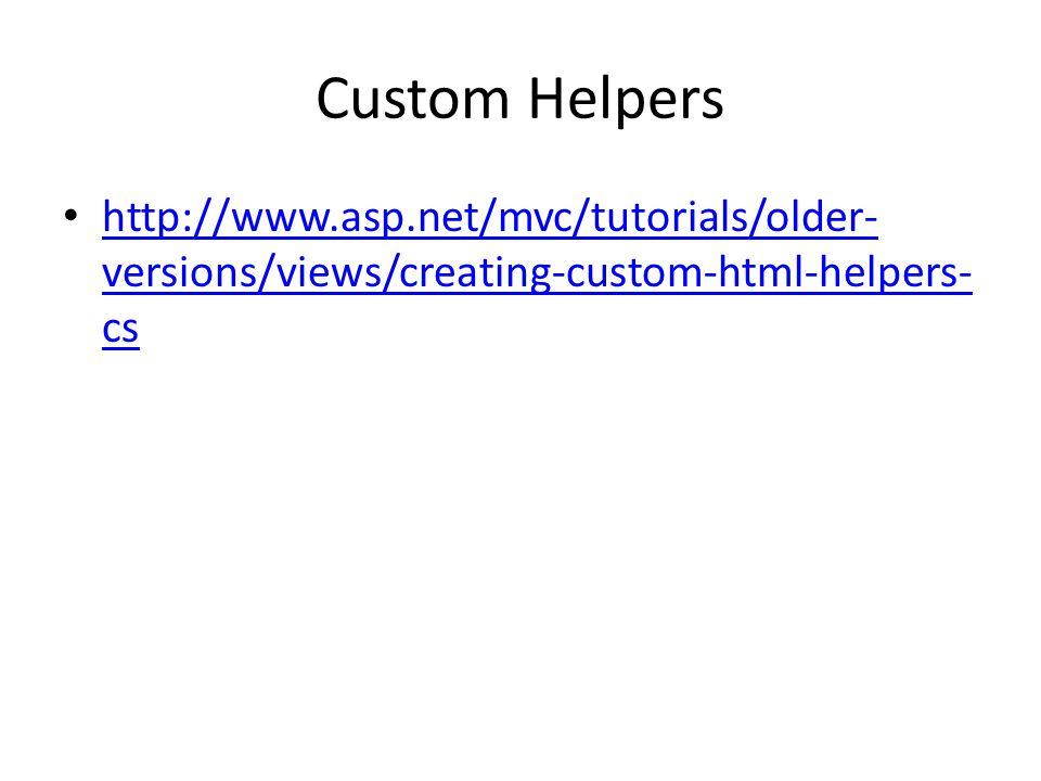 Custom Helpers http://www.asp.net/mvc/tutorials/older-versions/views/creating-custom-html-helpers-cs.
