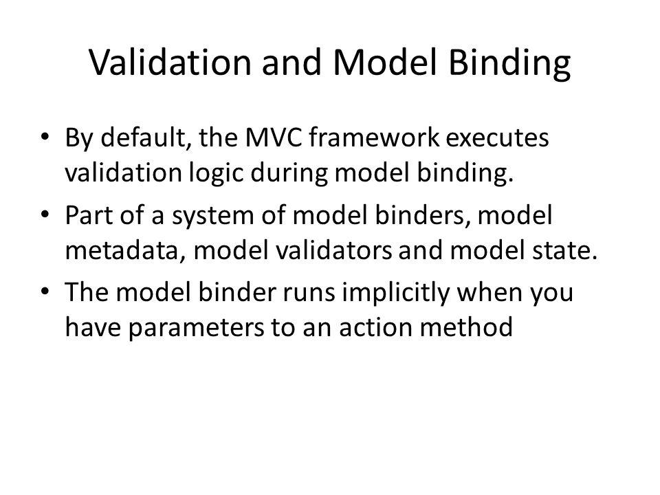 Validation and Model Binding