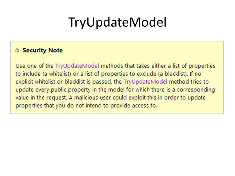 TryUpdateModel