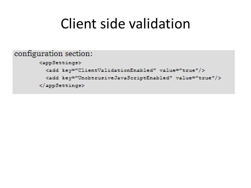 Client side validation