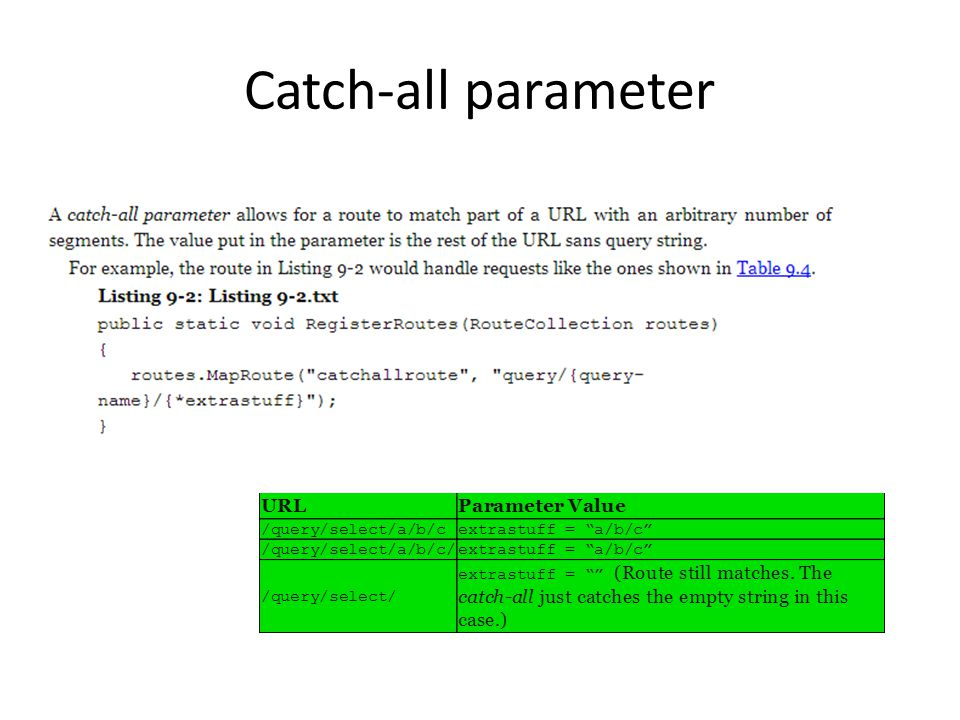 Catch-all parameter
