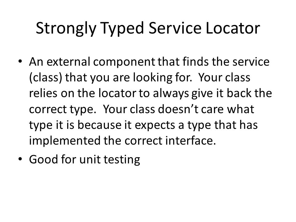 Strongly Typed Service Locator