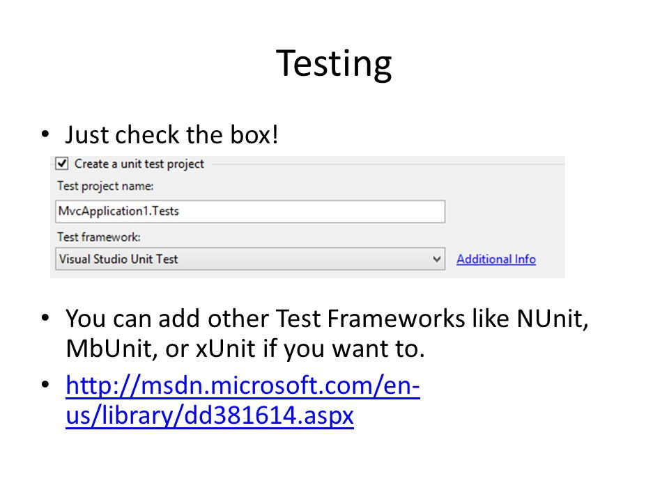 Testing Just check the box!