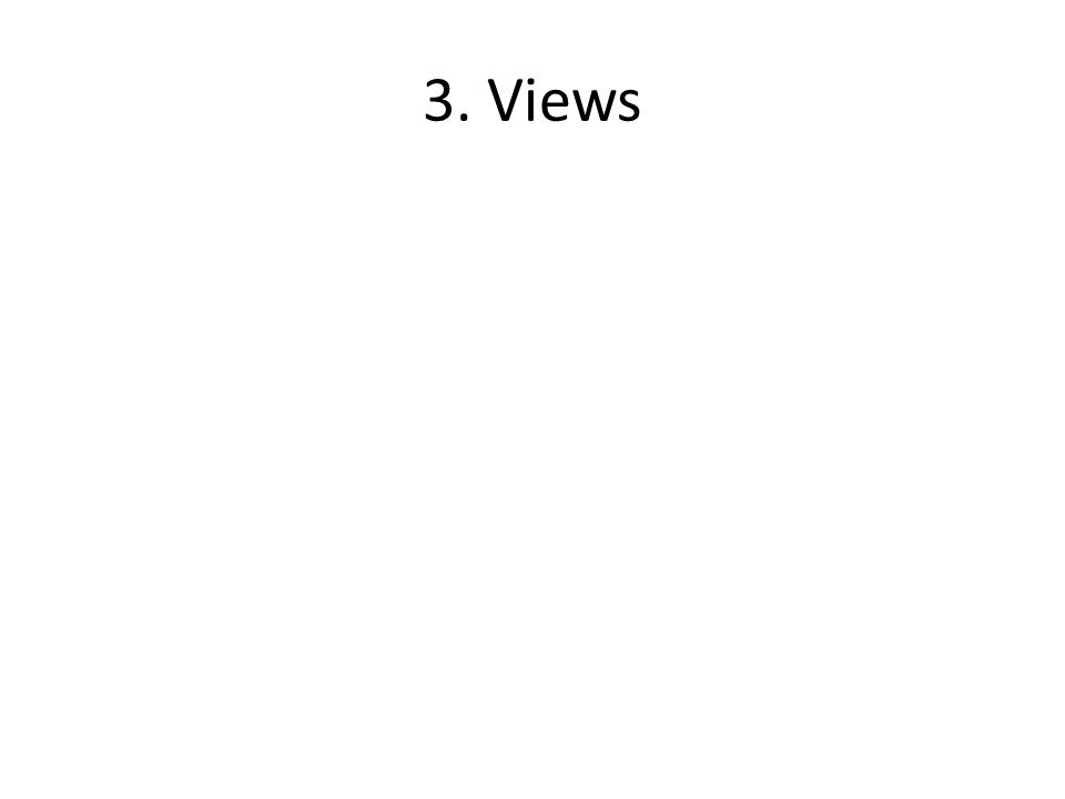 3. Views