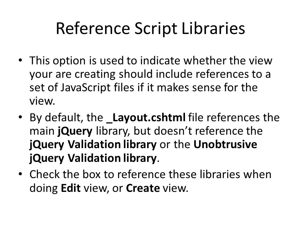Reference Script Libraries