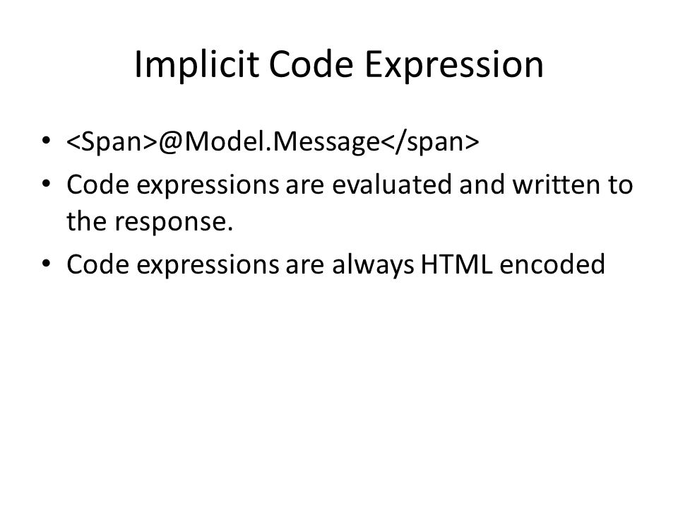 Implicit Code Expression