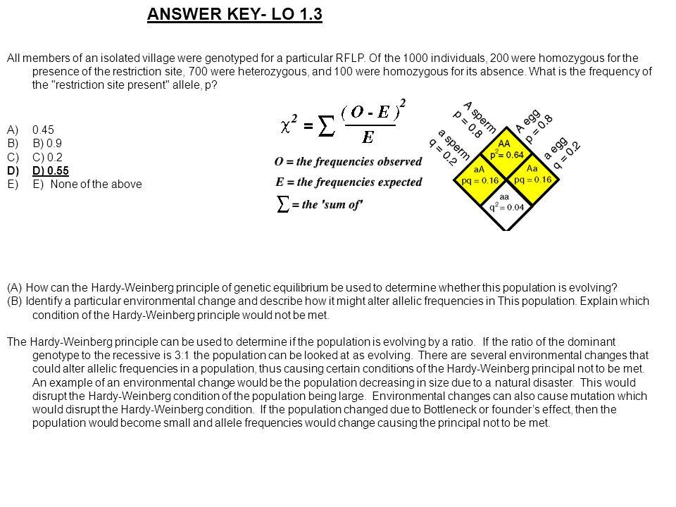 ANSWER KEY- LO 1.3