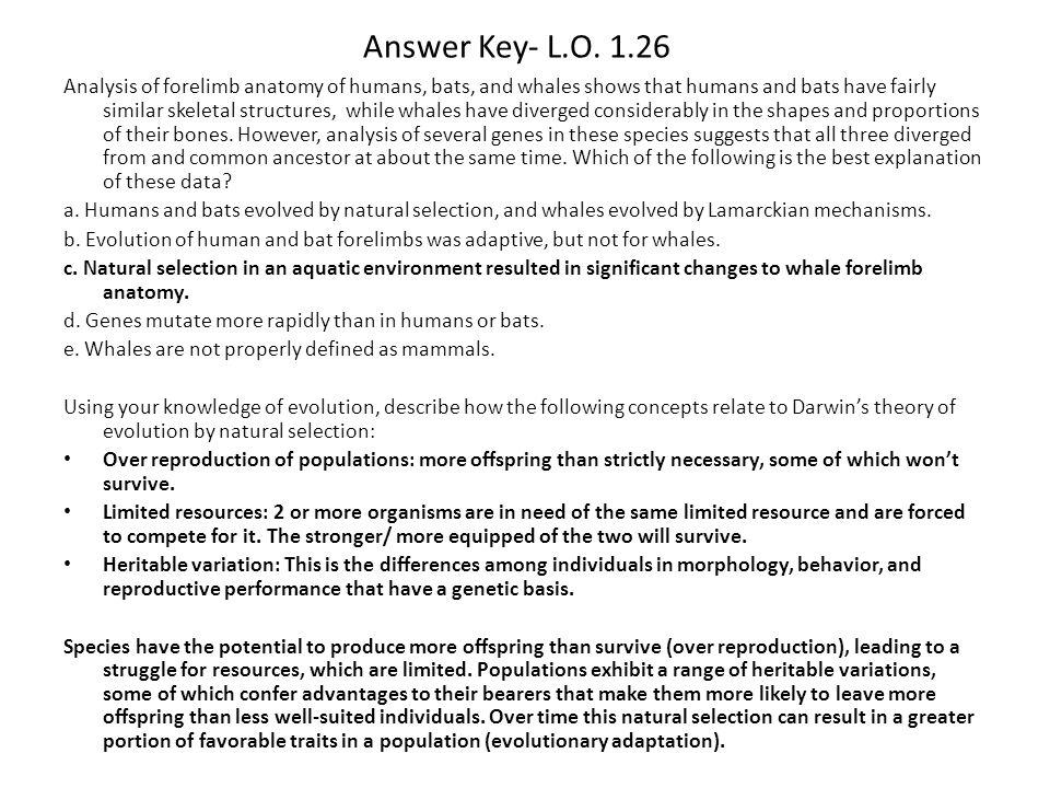 Answer Key- L.O. 1.26