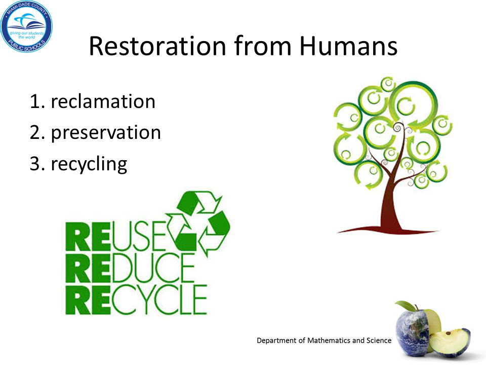 Restoration from Humans