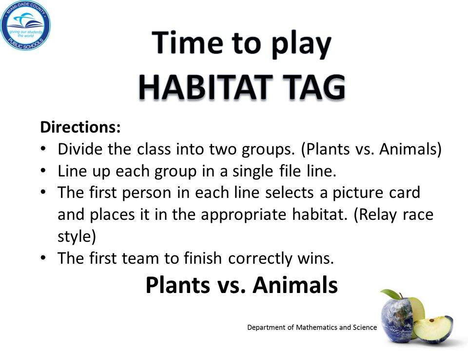 Time to play HABITAT TAG