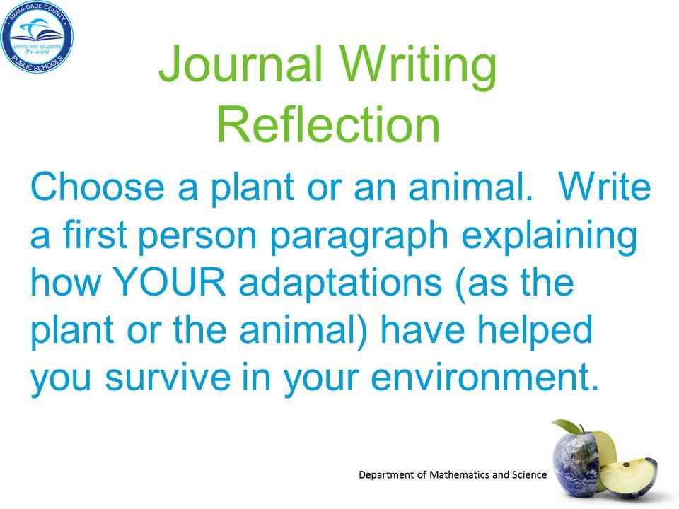 Journal Writing Reflection