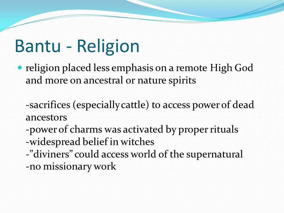 Bantu - Religion