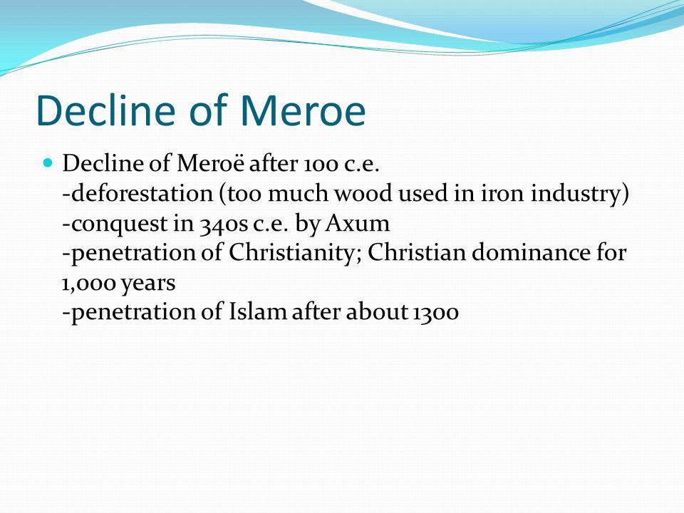Decline of Meroe