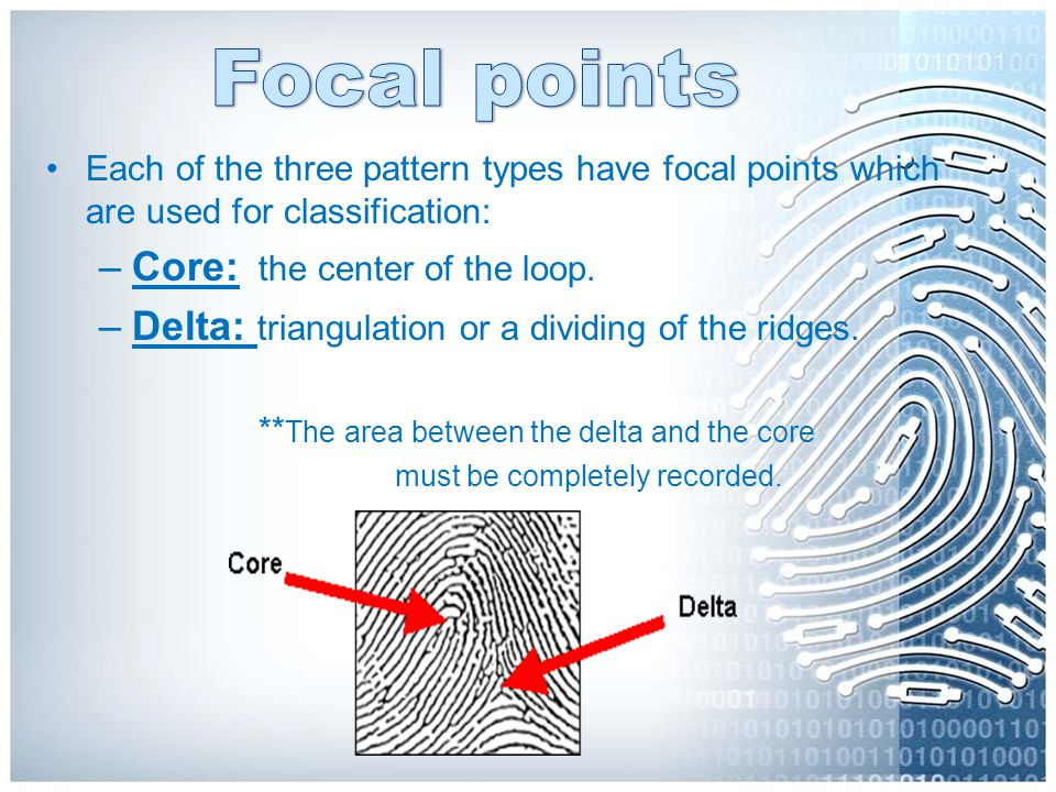 Focal points Core: the center of the loop.