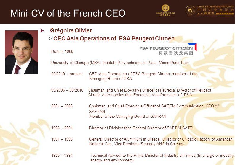 Mini-CV des Membres de la Délégation Officielle (6)