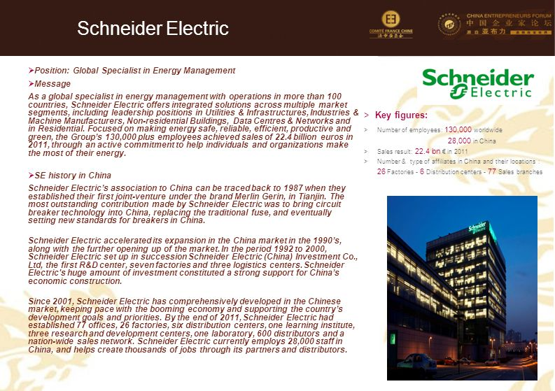 Schneider Electric 59 Key figures: