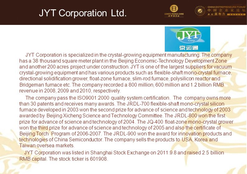 JYT Corporation Ltd.