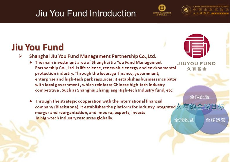 Jiu You Fund Introduction