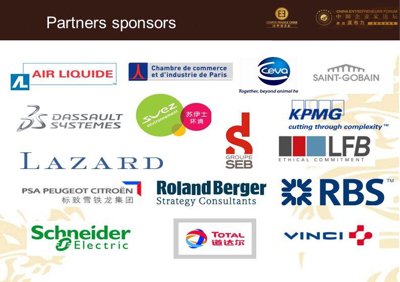 Partners sponsors Faire passer le nom de l'entreprise sur la ligne du dessous en gras.