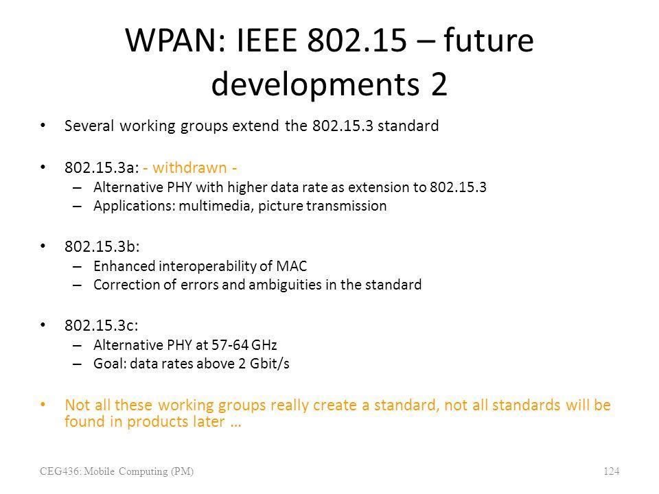 WPAN: IEEE 802.15 – future developments 2