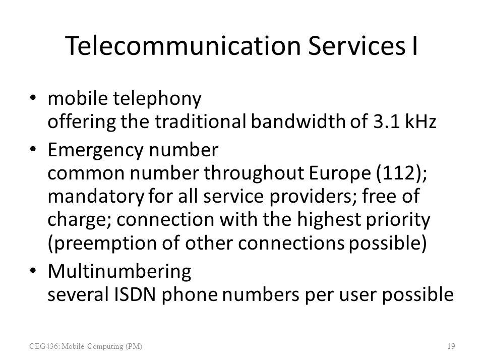 Telecommunication Services I