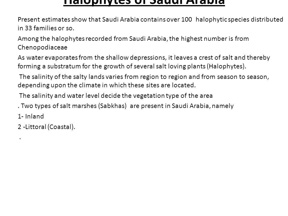 Halophytes of Saudi Arabia