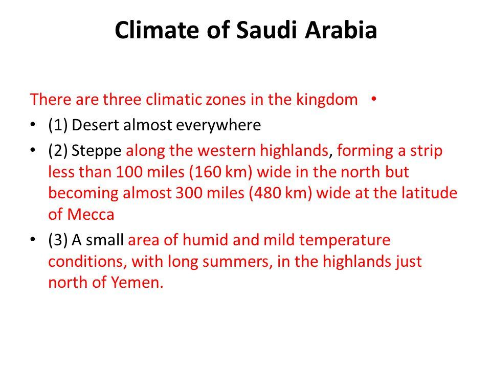 Climate of Saudi Arabia