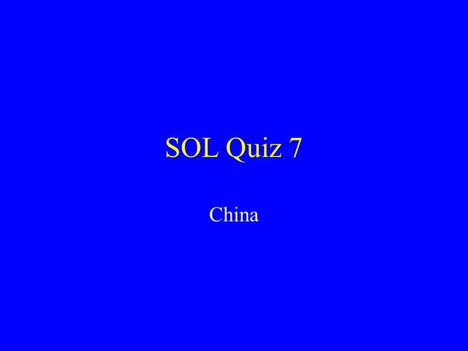 SOL Quiz 7 China