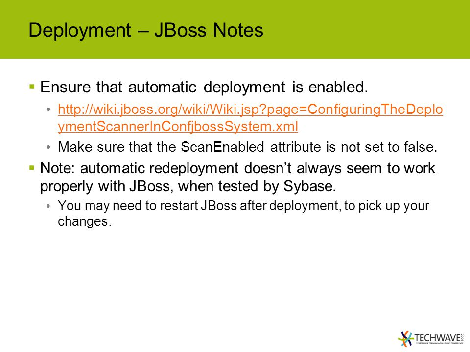 Deployment – JBoss Notes