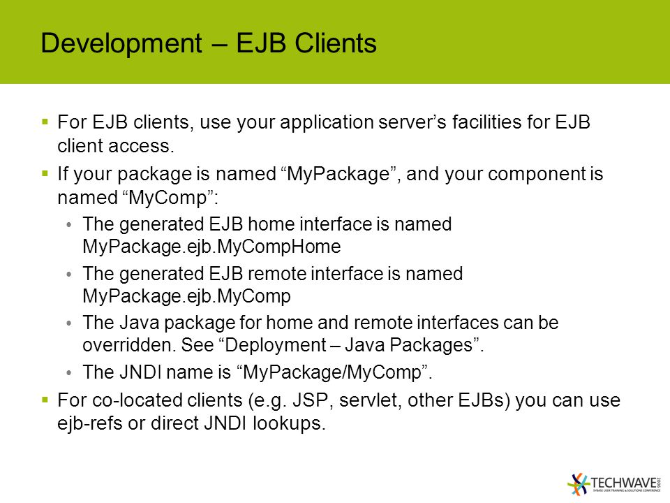 Development – EJB Clients