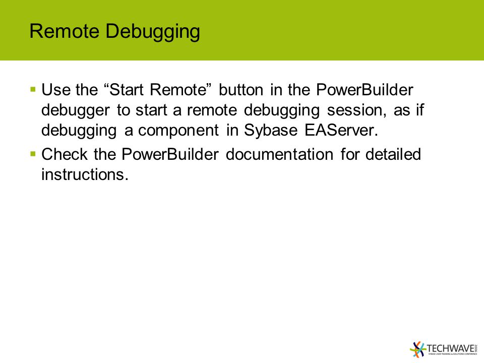Remote Debugging