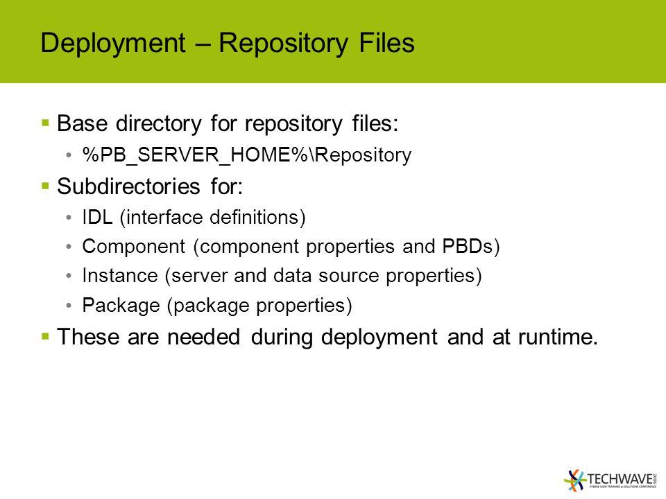 Deployment – Repository Files