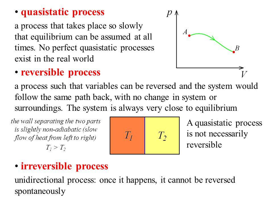quasistatic process reversible process irreversible process