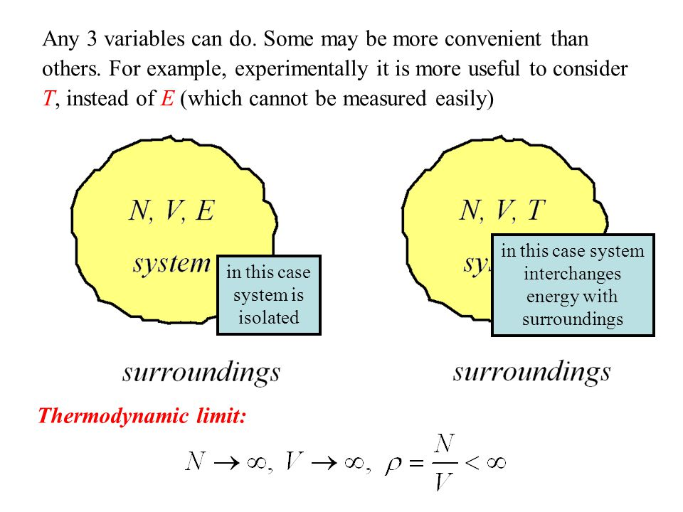Any 3 variables can do. Some may be more convenient than others
